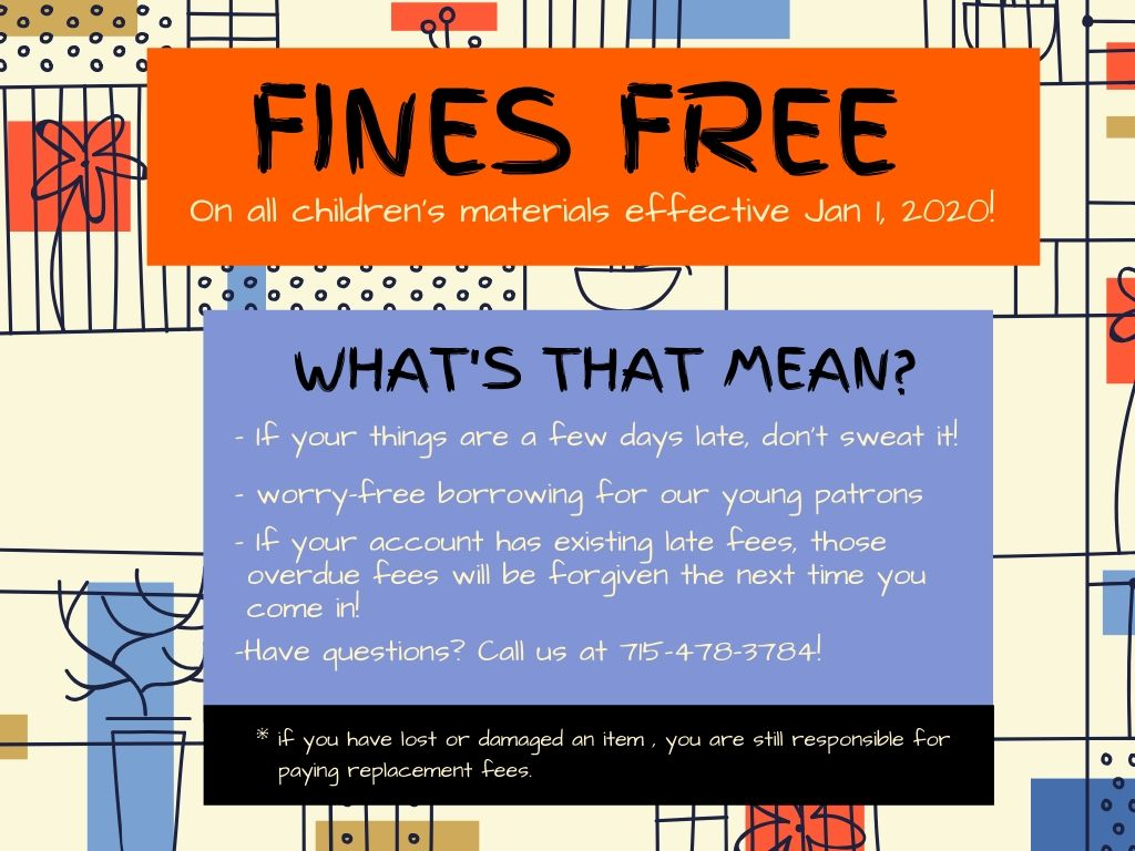 Fines Free Starting January 1, 2020